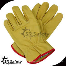SRSAFETY high quality full cow grain leahter gloves