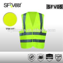 EN ISO 20471 nouveau style vêtements de protection de sécurité 100% polyester salut vis veste vêtements de réflexion de sécurité