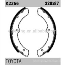 GS8460 K2266 for Toyota brake shoes definition