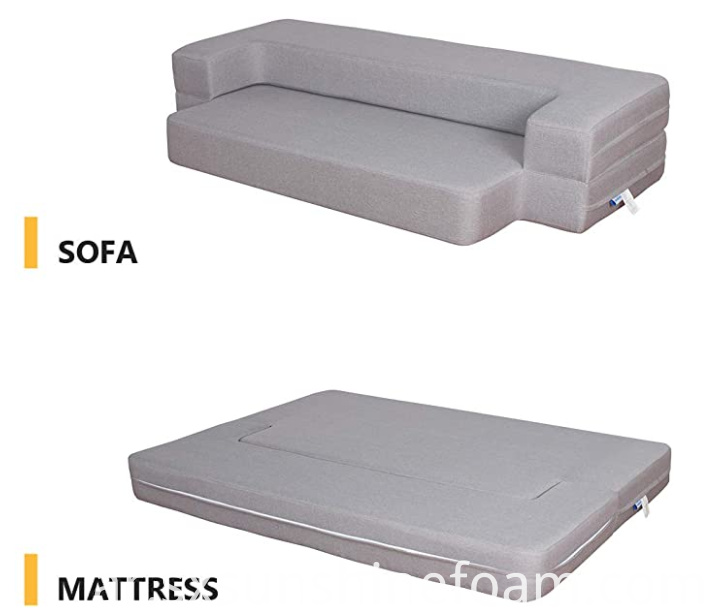 High quality Folding Foam Sofa