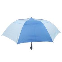 Double Layer Pongee Waterproof Folding Golf Automatic 2 Fold Strom-Proof Umbrella