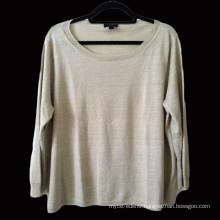 15PKLS07 2015 100% natural linen yarn woman sweater