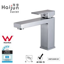 Haijun Promotional Product Artistic Deck Mounted Brass Basin Taps Faucets