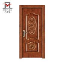 Nuevo estilo de lujo aceptado OEM acero madera hombres puerta diseños