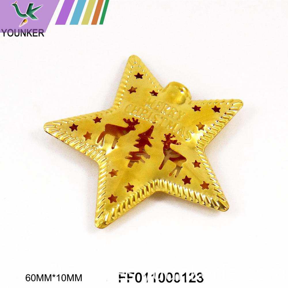 Gold Star Hang Ornament