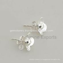 Серьги Ювелирные Изделия Стерлингового Серебра 925 Серьги Стержня Женщины Серьги