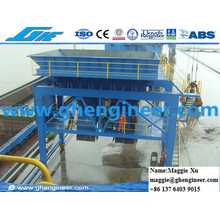 Port Used Rail Type Mobile Hopper for Bulk Cargo Coal Ore Unloading