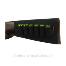 Buttstock Shell Holder Shotgun Recoil Pad Elastic band Black