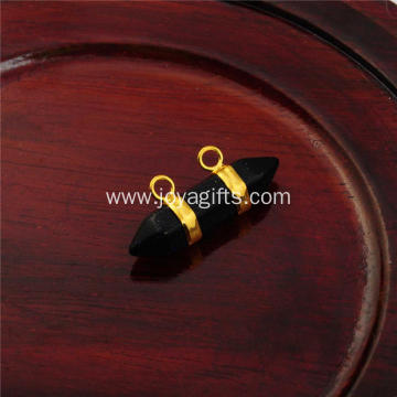 Supplier Charm Blue Goldstone Hexagon Bicone Pendant Gold Plated for Fashion
