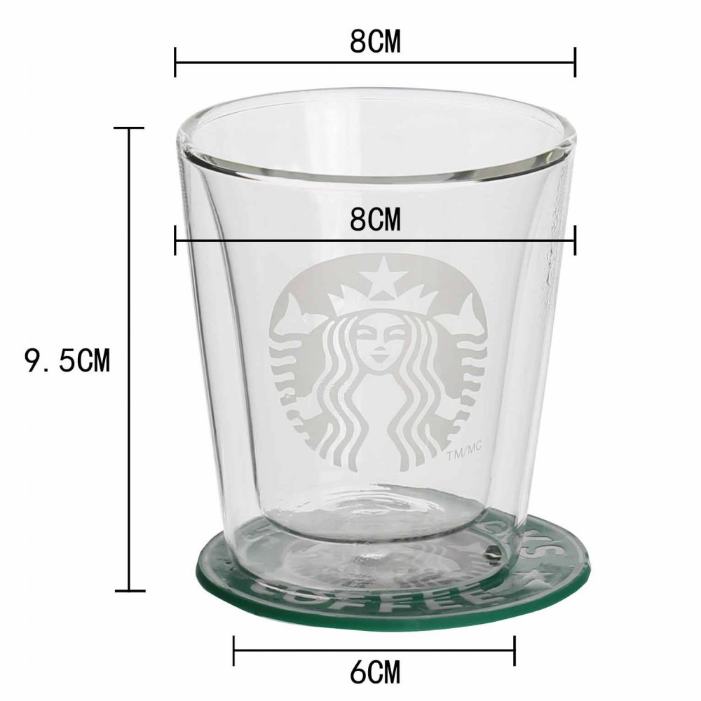 Starbucks Double Wall Glass Cup