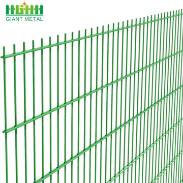 PVC bersalut Welded Double Horizontal Wire Mesh Pagar