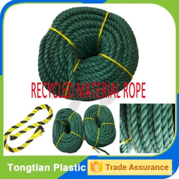Fabrikpreis 3 Strang Twist Seil Recycled PE Seil