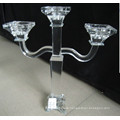 Crystal Candle Holder with Three Poster for Wedding Decoration