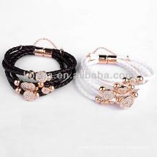 Accessoires de bijoux fantaisie bracelet en cuir avec bouton-pression en yiwu