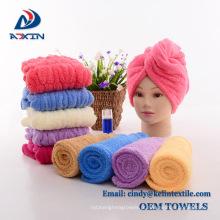 Amarre o turbante de toalha seco do cabelo do microfiber para o turbante das mulheres