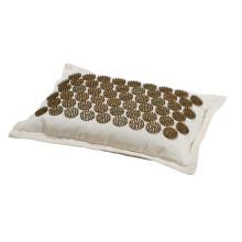 natural buckwheat husks fill brown spike acupressure cushion