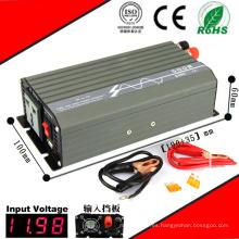 Inversor DC-AC de 600W Inversor de onda sinusoidal pura de 12VDC o 24VDC a 110VAC o 220VAC