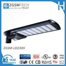 Luz de calle principal de Cobra de 230W LED con Lm-79 Lm-80