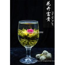Jin Zhan Fu Gui Té verde artístico en flor
