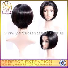 Buy Cheap 100% Pure Human Hair Short Ladies Wigs
