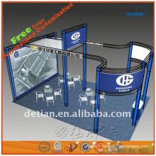 botte de boîte d'exposition en aluminium, affichage de salon commercial, support de botte en Chine