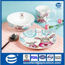 Горячие продажи керамических детей набор FCanton ярмарка или завтрак BC8003