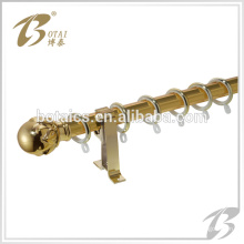2014 new design of metallic feeling steel curtain pole