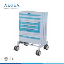AG-WNT001 ABS material de hospital de drogas de enfermería manual médico paciente carro