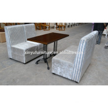 Hot sale restaurant booth sofa with table XYN558