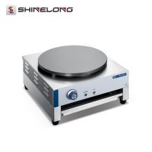 Kommerzielle Edelstahl 1-Platte Mini elektrische rotierende Krepp Maker Maschine automatische