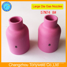 Tubo de cerâmica 57N74 de tocha de solda argon tig
