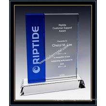 "Plaques Crystal Award / Plaque bleue verticale 7 ""H (NU-CW726)"