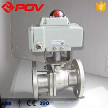 válvula de esfera motorizada flangeada dn40 de aço inoxidável