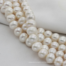 12 milímetros de grande tamanho Natural Freshwater Ivory Pearl String