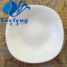 Heat resistant opal glassware soup plate