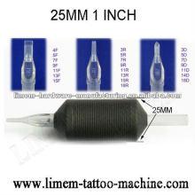 1inch 25mm Silikon-Tätowierung-Wegwerfgriff / Tätowierung agarre de silicona desecable