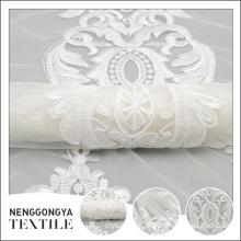 New design professional fashion ribbon embroidery indian bridal fabric
