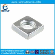 На складе Китайский производитель Лучшая цена DIN562 Нержавеющая сталь Квадратные тонкие гайки
