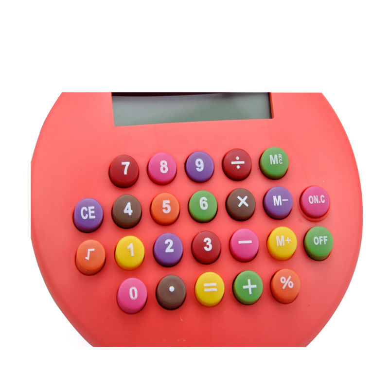 8 Digits Hamburger Shape Calculator with Colorful Button