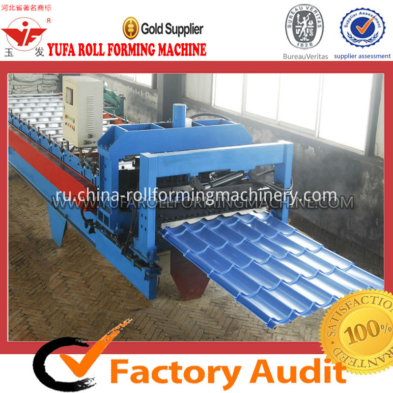 1100 galvanized tile roof panel roll forming machine