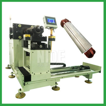Horizontal type semi-auto stator winding inserting machine