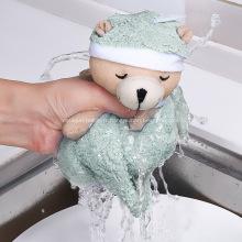 Serviette de cuisine créative ours chiffon suspendu