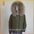 Фабричный оптовый пользовательский талисман с капюшоном с застежкой-молнией Ladies Fur Parka