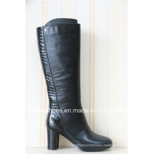 Comfort Fashion Women Leather Long Boots for Sexy Lady