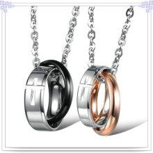 Collar de la manera de la joyería del acero inoxidable del colgante de los pares (NK511)