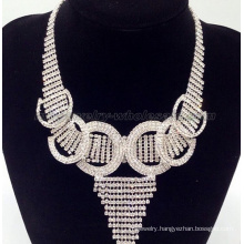 Trendy Retaining Ring Glass Beads Necklace