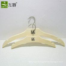 personalized natural color plywood laminated garment hanger set