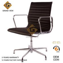 Vente de chaise de bureau pivotante en cuir noir Conférence (GV-EA108) chaude