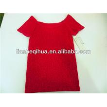 fancy design women t-shirts,knitting sexy seamless t-shirt
