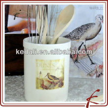 China Factory Wholesale Porcelain Ceramic Tool Utensil Holder